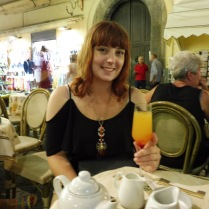 Drinking bellini in Sorrento