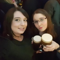 Drinking Guinness in Temple Bar, Dublin